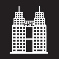 Signe de symbole d'icône d'hôtel