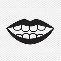 bouche symbole symbole vecteur
