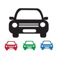 Signe de symbole icône voiture vecteur