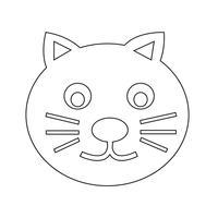 signe de symbole icône chat