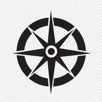 Boussole icône symbole signe vecteur