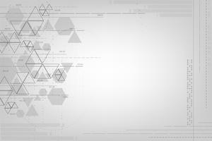 La géométrie dans le concept de technologie. vecteur