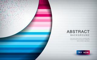 Abstrait coloré avec couche de chevauchement blanche, forme de la texture et décoration de paillettes vecteur