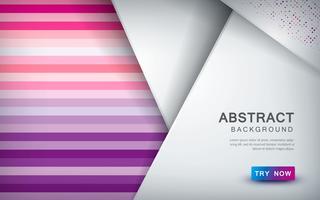 Abstrait coloré avec couche de chevauchement et décoration de demi-teintes de couleur vecteur