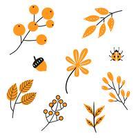 Pack d'icônes d'automne vecteur