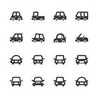 Jeu d'icônes de voiture. Illustration vectorielle