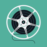 Bobine de film de cinéma vecteur