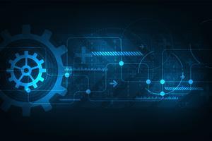 Technologie et information sur la mécanique. vecteur