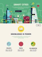Modèle d'atterrissage de site Web Smart Cities