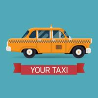 Élément de design de taxi jaune vecteur