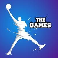 silhouette de basket blanche vecteur
