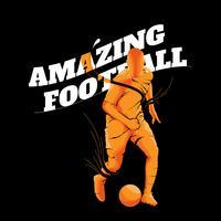 silhouette de football de football incroyable vecteur