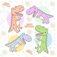 vecteur mignon d dinosaaur t rex