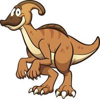 Dinosaure Parasaurolophus vecteur