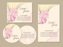 Modèles de cartes de vœux vecteur