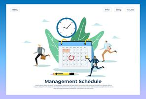 Calendrier de gestion Web Landing