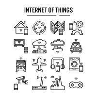Internet de l'icône de choses dans la conception de contour