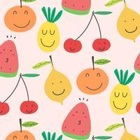 Fruits mignons de fond. Illustration vectorielle