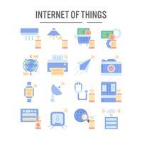 Internet de l'icône des objets au design plat