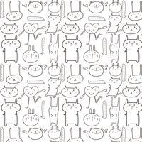 Fond animal mignon. Illustration vectorielle vecteur