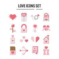 Icône d'amour au design plat vecteur