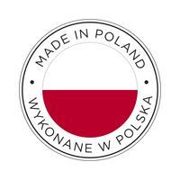 Fabriqué dans l'icône de drapeau de la Pologne.
