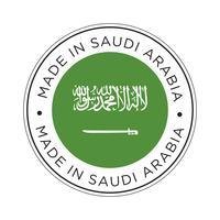 Fabriqué en Arabie Saoudite icône de drapeau. vecteur