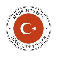 Fabriqué en icône de drapeau de la Turquie.