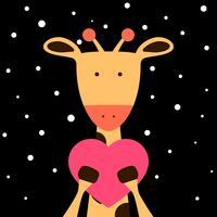 Illustration de girafe mignon, fanny. vecteur
