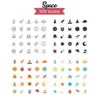 vecteur de jeu d'icônes de l'espace