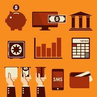 Illustration vectorielle bancaire