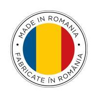 Fabriqué dans l'icône de drapeau de la Roumanie.