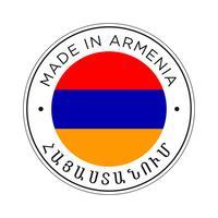 Fabriqué en icône du drapeau arménien.