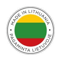 Fabriqué dans l'icône de drapeau de Lituanie. vecteur