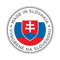 Fabriqué en icône de drapeau Slovaquie. vecteur