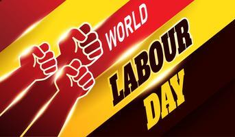 Contexte de la fête mondiale du travail vecteur