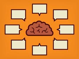 Notion de cerveau - illustration vectorielle