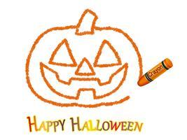 Dessin au crayon Jack-o'-lantern isolé sur fond blanc.