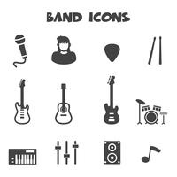 symbole d'icônes de bande