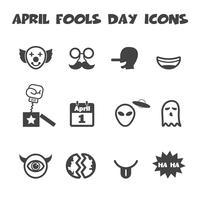 icônes de jour de poisson d'avril vecteur
