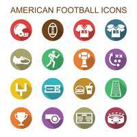icônes de l'ombre portée du football américain vecteur