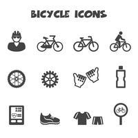symbole d'icônes de vélo vecteur