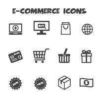 symbole d'icônes de commerce électronique vecteur