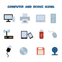 icônes d'ordinateur et de périphérique vecteur