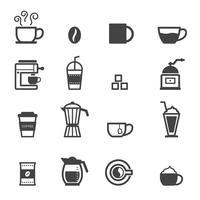 tasse d'icônes de café vecteur