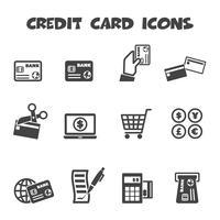 icônes de carte de crédit vecteur