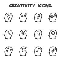 symbole d'icônes de créativité vecteur