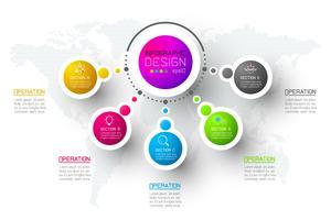 Modèle d'options étape abstrait affaires infographie.
