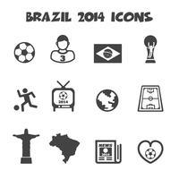 icônes du Brésil 2014 vecteur