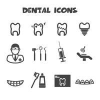 symbole d'icônes dentaires vecteur